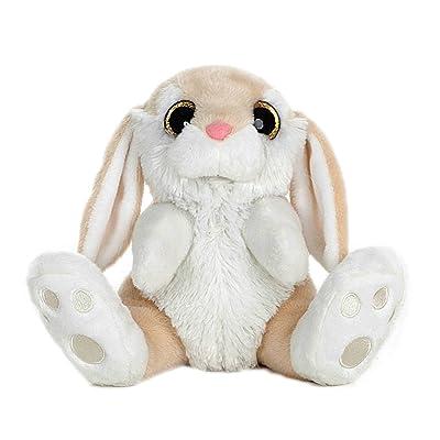 Barrado - Conejo de Peluche sentado 45cm Calidad super soft - Color Marron claro: Juguetes y juegos