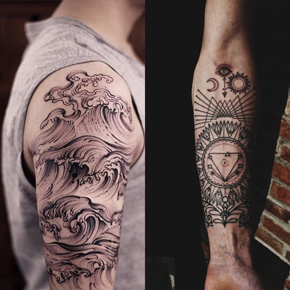 hommii 50 x Tattoo Desechables agujas Set con Manguera Mango Tatuajes agujas Needles en 10 modelos 5pcs 3RL 5RL 7RL + 5pcs 3RS 5rs 7RS + 5pcs 5 M1 7 M1 + ...