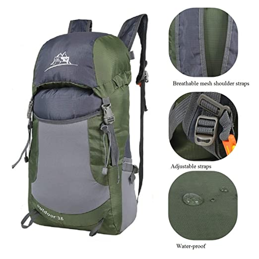 Amazon.com   Luisport Waterproof Foldable Hiking Backpacks Travel Backpack  Small Backpacks Cute Backpacks for Women and Girls Best Backpacks for Men  Camping ... dab74bd24e