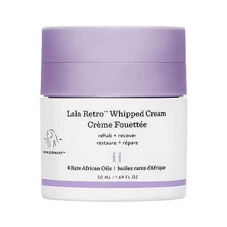 Drunk Elephant Lala Retro Whipped Cream – Anti-Aging Moisturizer for Dry Skin 1.69 fl oz
