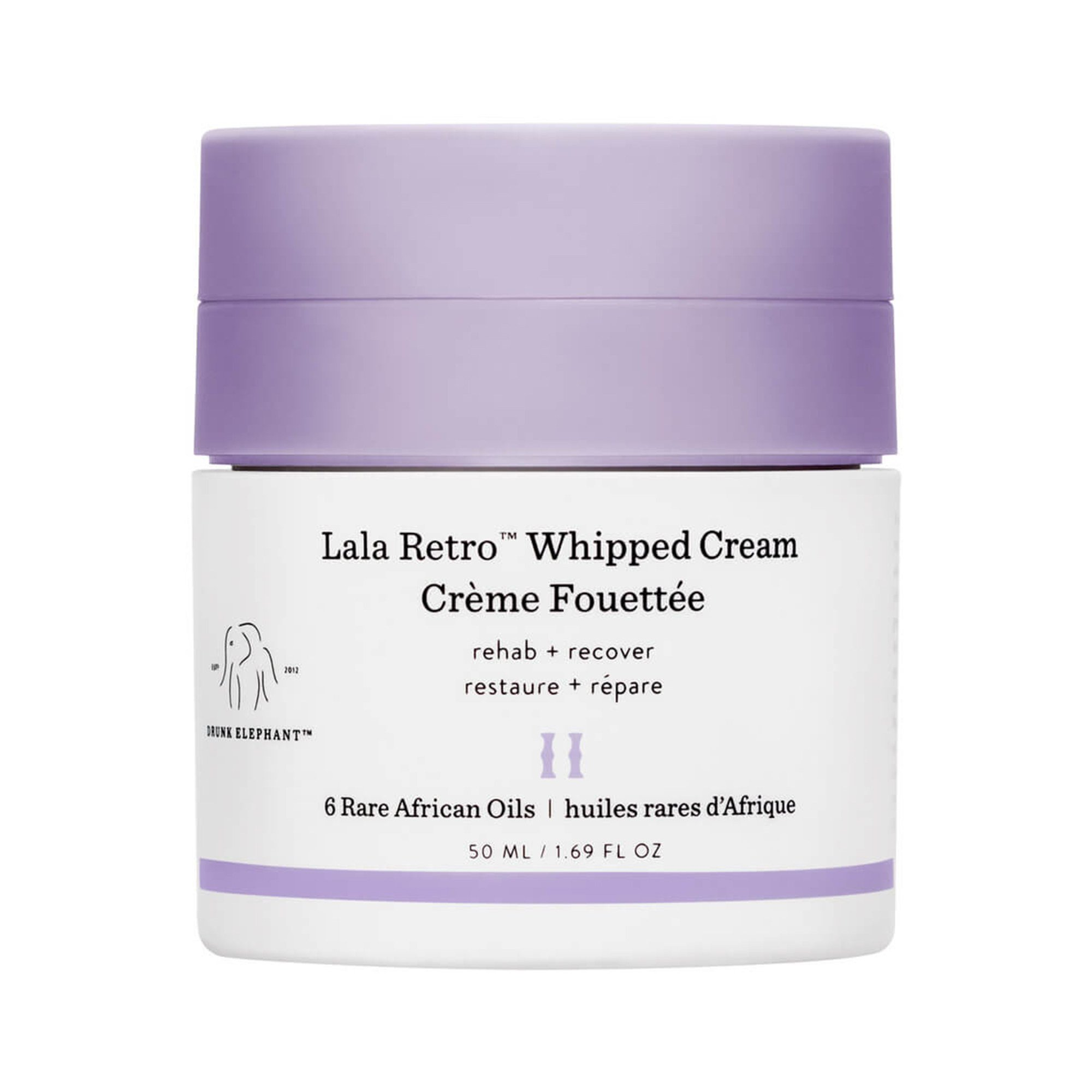 Drunk Elephant Lala Retro Whipped Cream - Anti-Aging Moisturizer for Dry Skin (1.69 fl oz)
