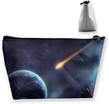 Meteorite Earth Planet - Estuche para brochas de maquillaje, diseño de galaxia, color morado: Amazon.es: Equipaje