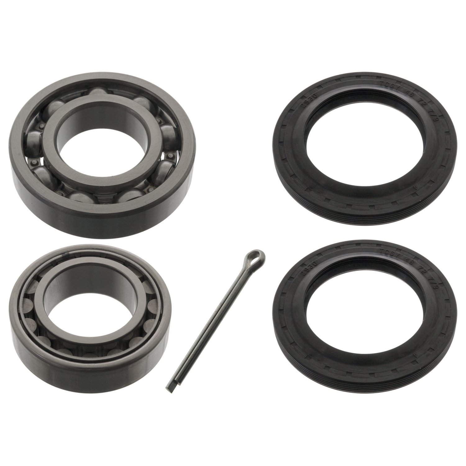 pack of one febi bilstein 03691 Wheel Bearing Kit with shaft seals and cotter pin