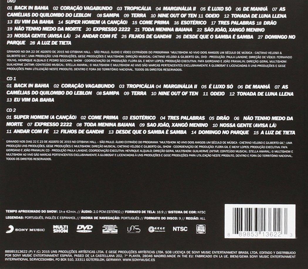 Dos Amigos: Un Siglo De Música: Grabado En Directo: Caetano Veloso, Gilberto Gil: Amazon.es