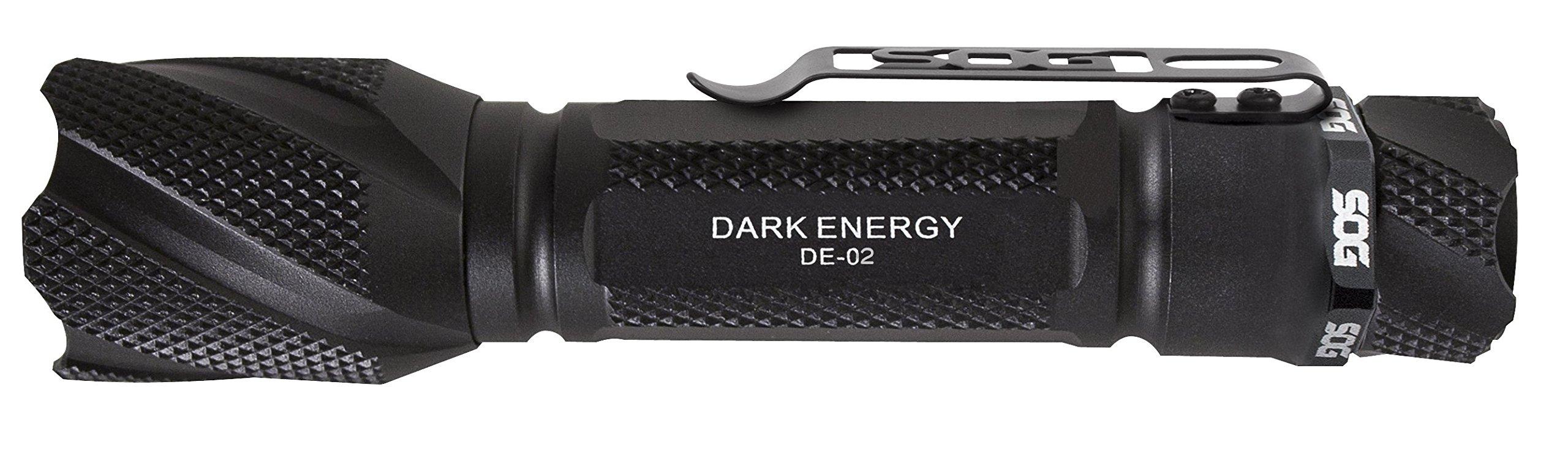 SOG Dark Energy Flashlight DE-02-263 Lumens, Two CR-123A, Annodized Aluminum Body, CREE LED Technology