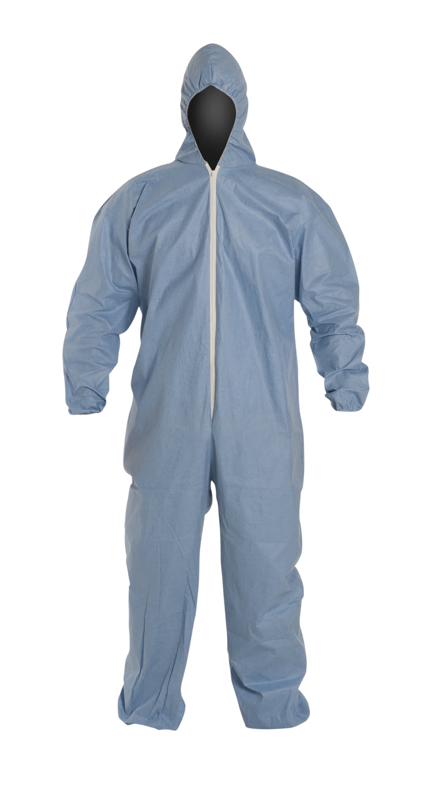 DuPont Proshield 6 TM127S Secondary Flame Resistant Coverall with Attached Hood, Blue, X-Large (Case of 25)
