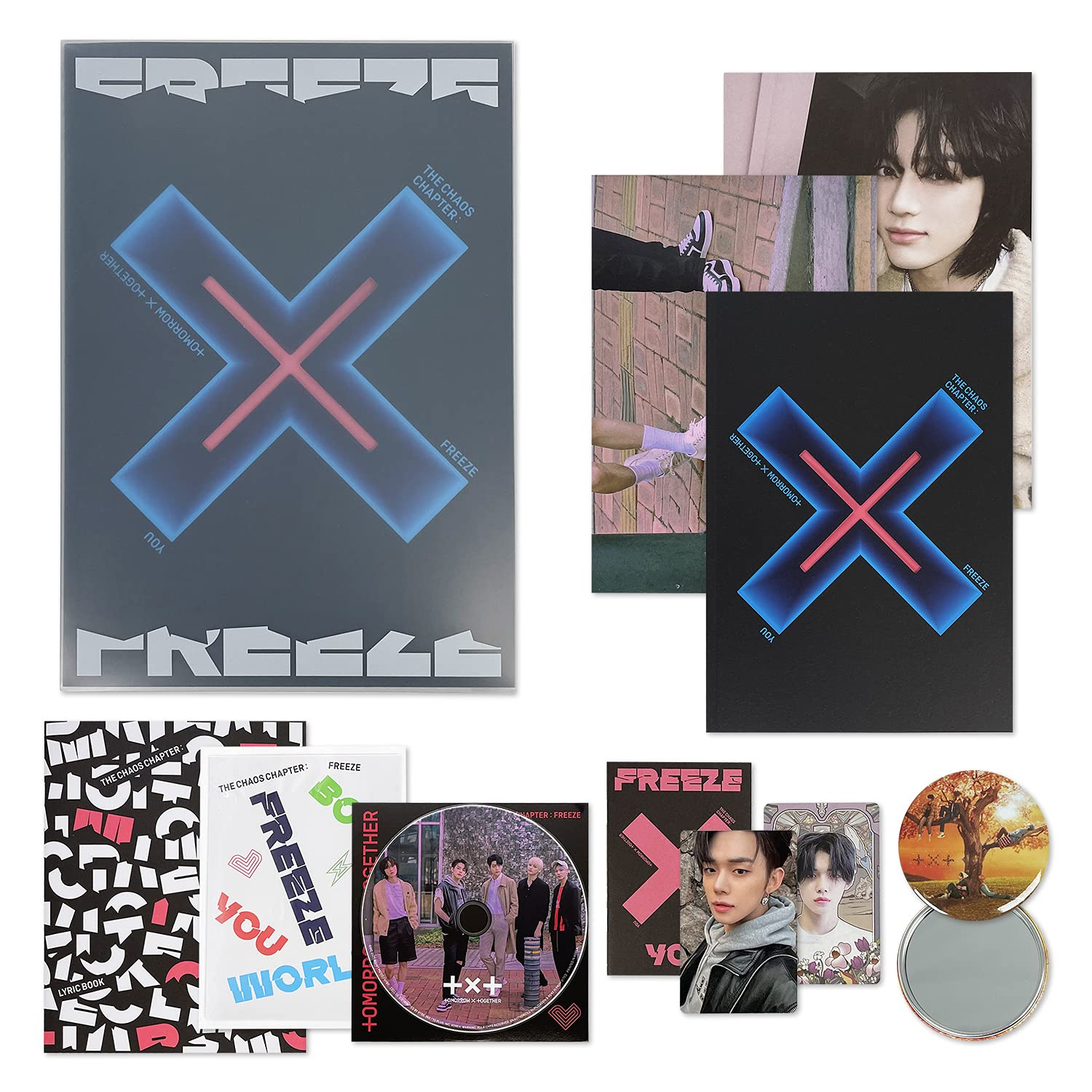 NEW TXT The 2nd Album - THE CHAOS ver. CD FREEZE : Mesa Mall + YOU CHAPTER