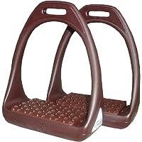 Plástico estribos Reflex con Flexible ancha superficie marrón/marrón