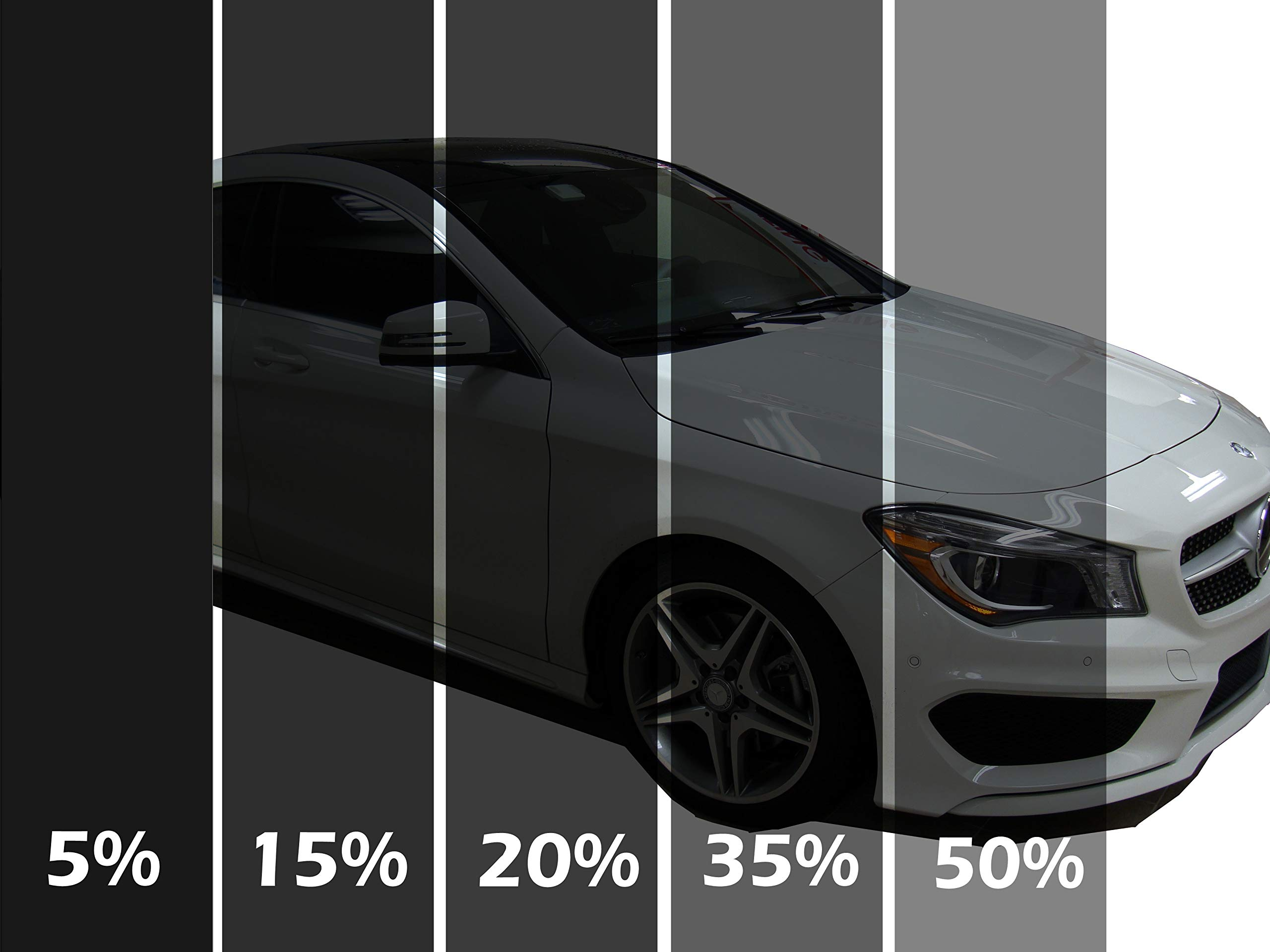 LEXEN 2Ply Premium Carbon 20'' X 100FT Roll Window Tint Film Auto Car (5% Limo (Darkest Shade)) by LEXEN (Image #3)