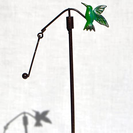 Miniature Fairy Hummingbird Garden Stake
