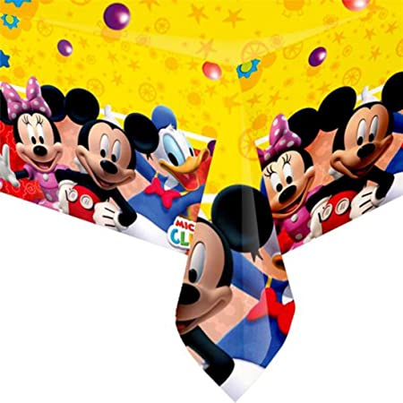 Mickey Minnie Mouse Plastic Table Cover Disney Clubhouse Kids Party