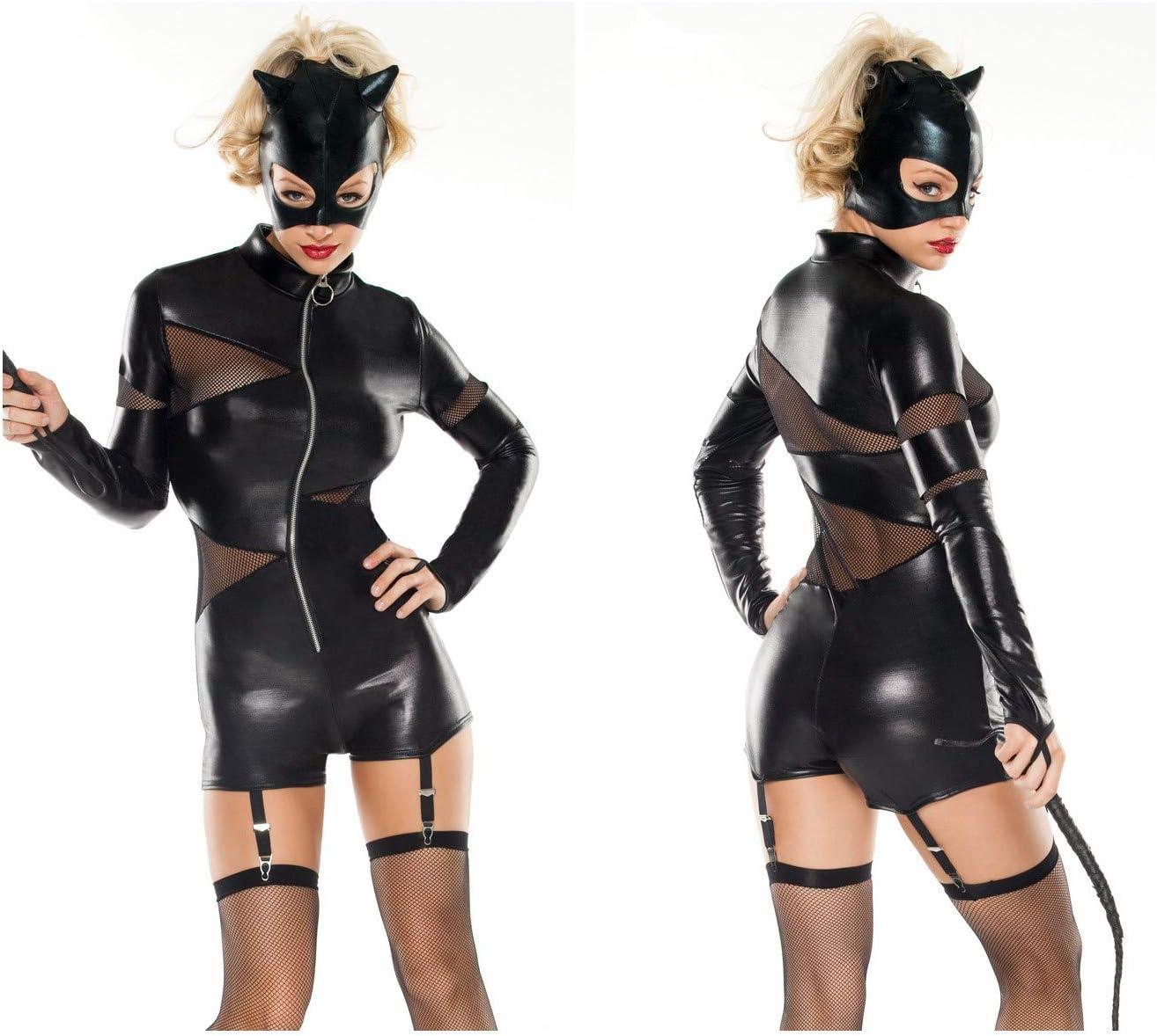 GYH Traje de Piel de superhéroe para Gato y niña, Disfraz de ...