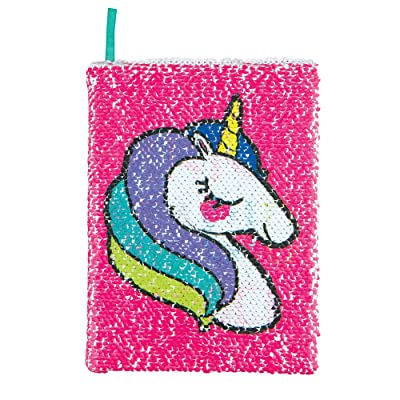 Style.Lab by Fashion Angels Magic Sequin Journal Unicorn / Make Magic Happen (76974) Reversible Sequin, 80 Page Lined Journal: Toys & Games