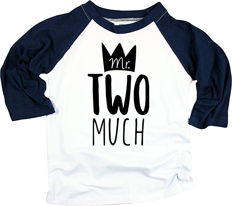 Amazon Boys 2nd Birthday Shirt Mr Two Much Second Outfit Clothing