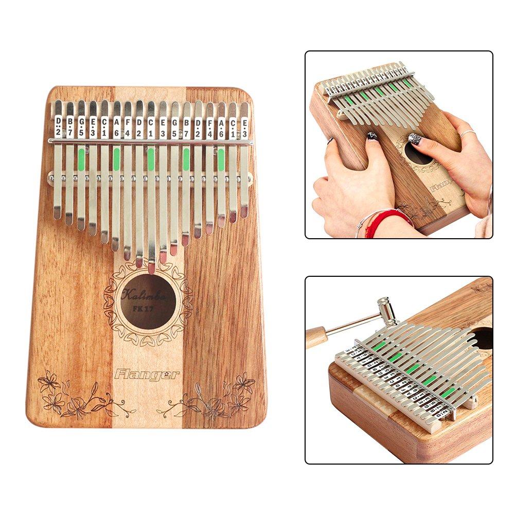 calimba 17 Instrumento Llave juguete Música Note en el teclado inmediatamente Juego Bar con afinador de herramientas y ordenador Texto verfügung ...