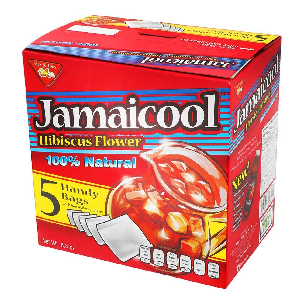 Jamaicool Hibiscus Flower Water 100% Natural 5 Bag Box
