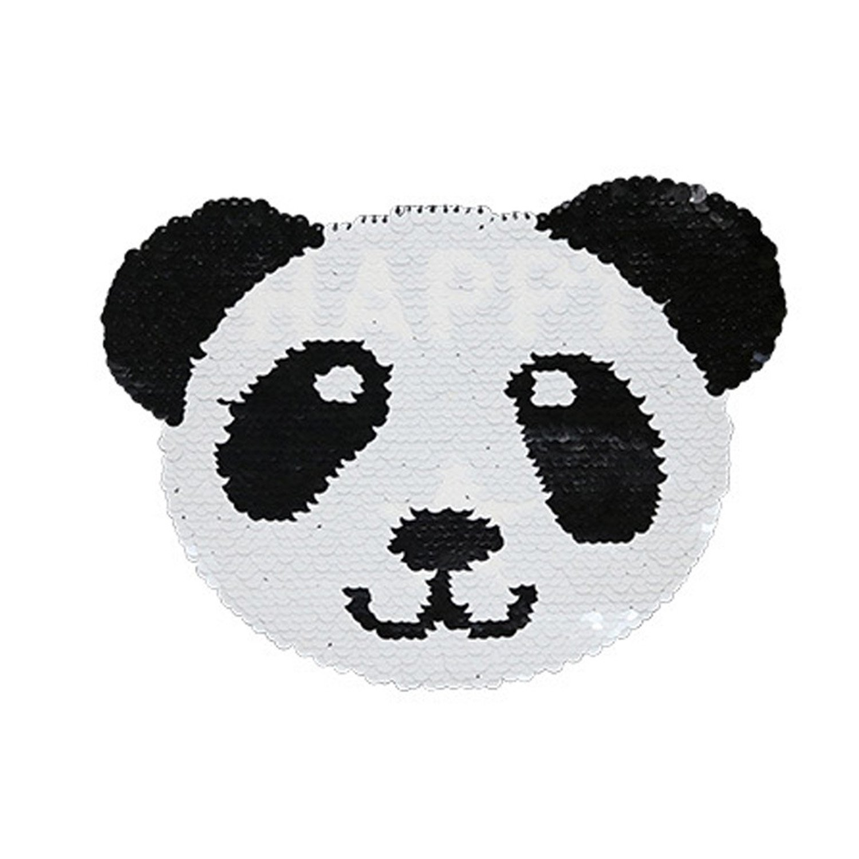 Reversible Lentejuelas Ropa Parche Panda Patrón Bordado DIY Coser ...