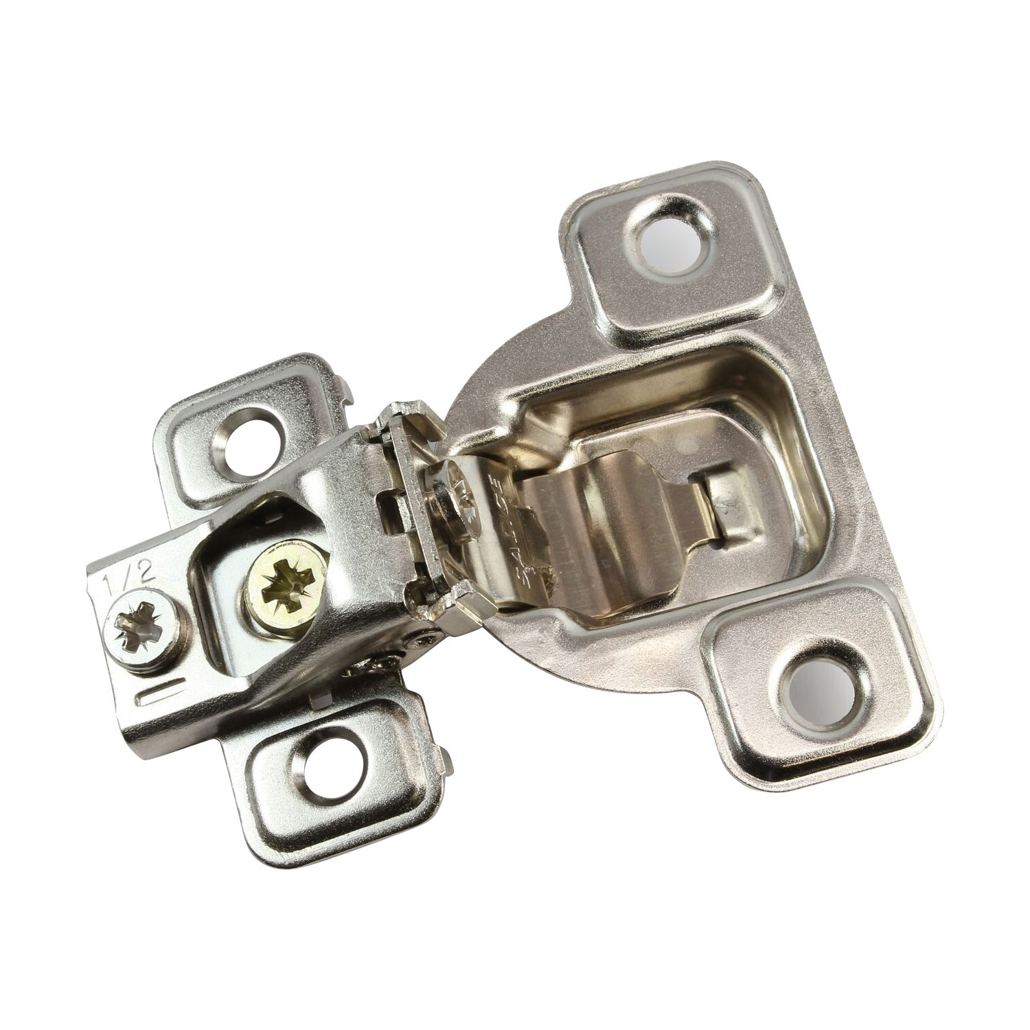 5 Pack Salice 106 Degree Excenthree 1/2'' Overlay Screw On Self Close Cabinet Hinge with 3 Cam Adjustment CSP3799XR