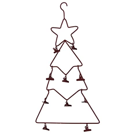 amazon com large metal hanging tree holiday greeting card holder