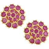Archi Collection Ethnic Gold Plated Earrings Studs for Girls & women