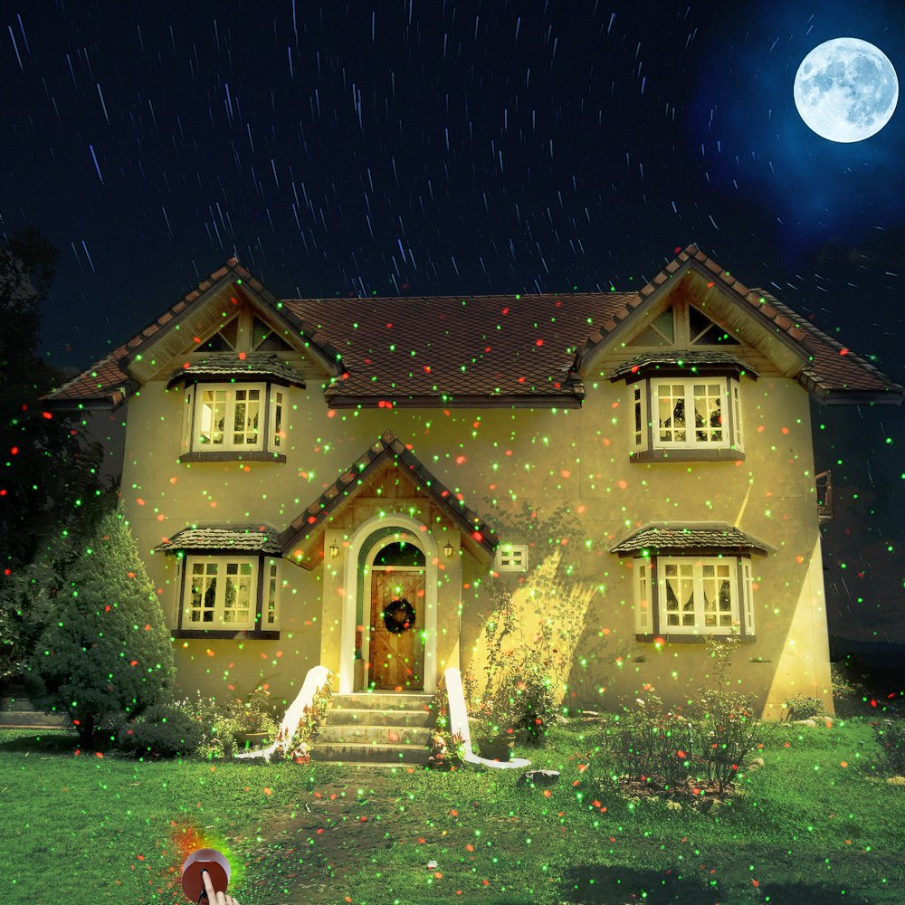 Amazon.com : Outdoor Laser Christmas Lights Landscape Star String ...