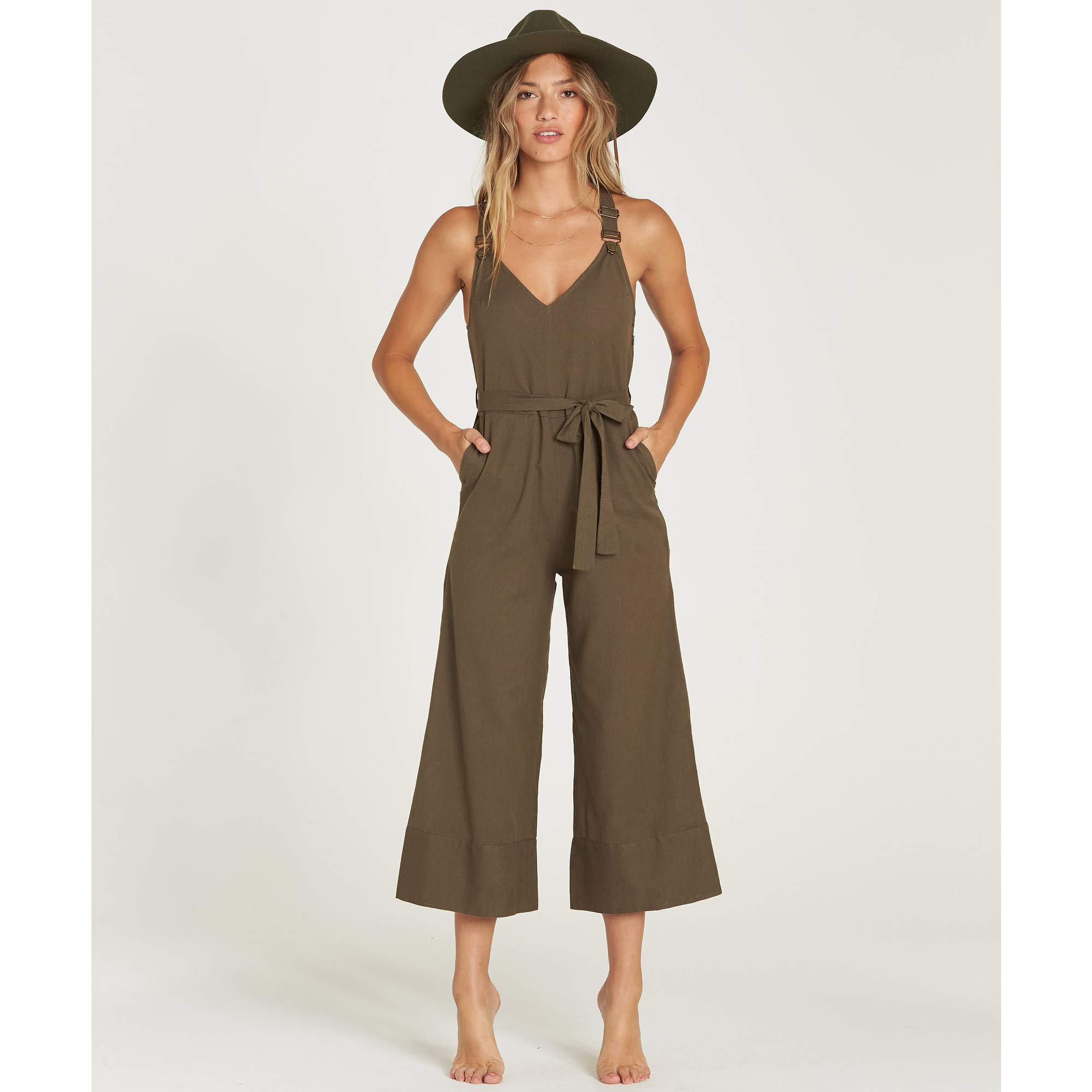 Billabong Women's Bella Day Overall, Olive, S