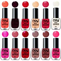 NOY® Nail Polish for Women Quick Dry Set of 12 in Wholesale Rate 6 ml each(Pink, Brown, Nude, Orange Red, Peach, Metallic Magenta, Off White, Carrot Red, Nude, Orange Red, Dark Maroon, Neon Peach)