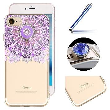 40e37ea6722 iPhone SE Tpu Case,iPhone 5 5S Clear Case,Etsue Colorful Mandala Henna  Flower Animal Elephant ...