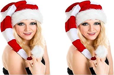 Geweih Set G3 2-3 Jahre 2 er Set aus Kinder Weihnachtsmütze Nikolausmütze ca