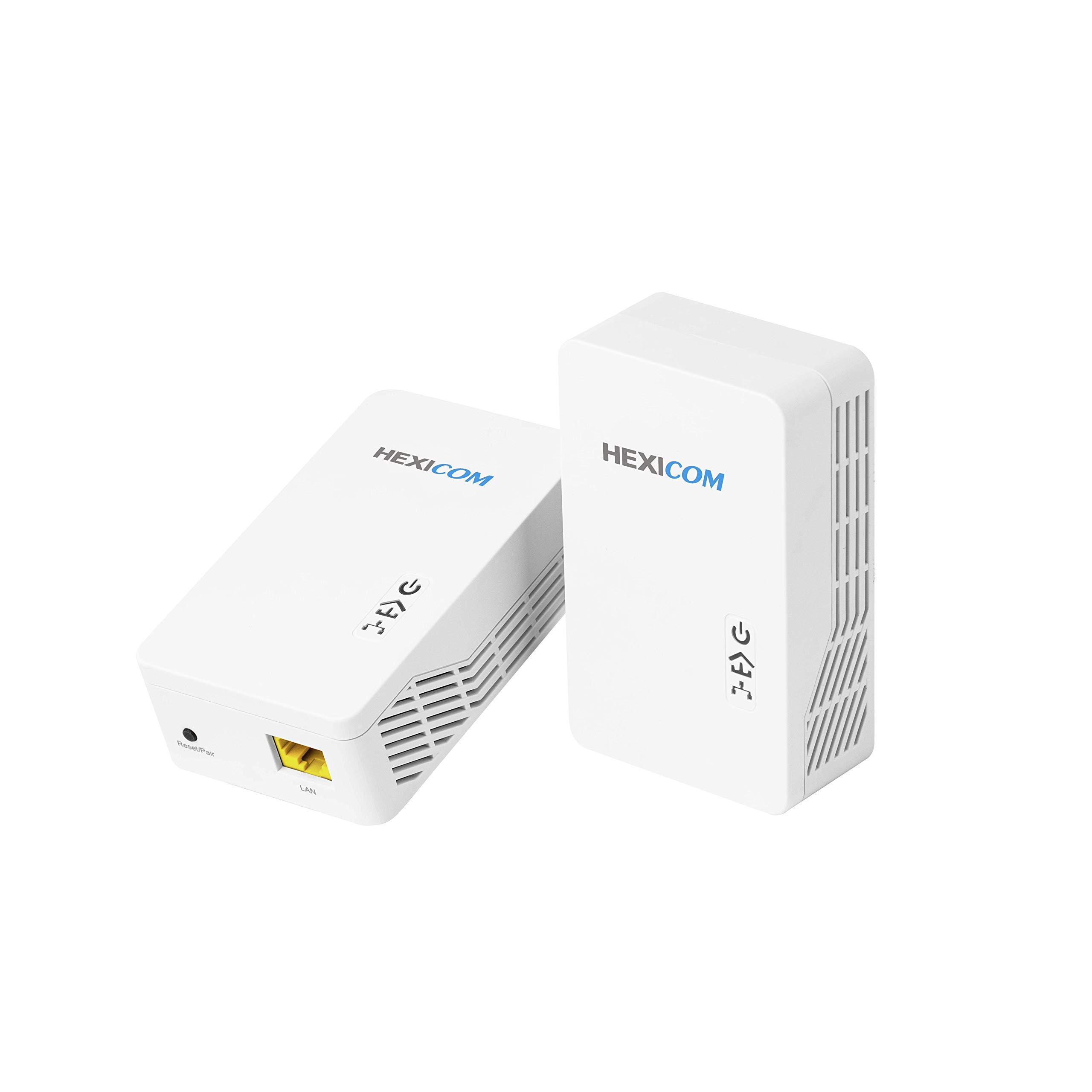 HEXICOM AV1000 Gigabit Powerline Adapter Ethernet Kit, Powerline Speeds Up to 1000Mbps (HS1000CK) by HEXICOM