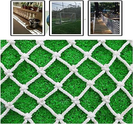 Red De Protección Blanca para Exteriores Malla Anticaída para Niños Escalera Balcón Cerca De Jardín Que Sube La Cuerda Tejida Remolque De Carga De Camiones Patio De Recreo Sitio De Construcción: Amazon.es: