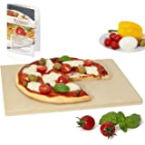 Amazy Pietra per pizza – Date alla vostra pizza l'originale sapore italiano della pizza tenera e croccante cotta nel forno di pietra (38 x 30 x 1,5 cm)
