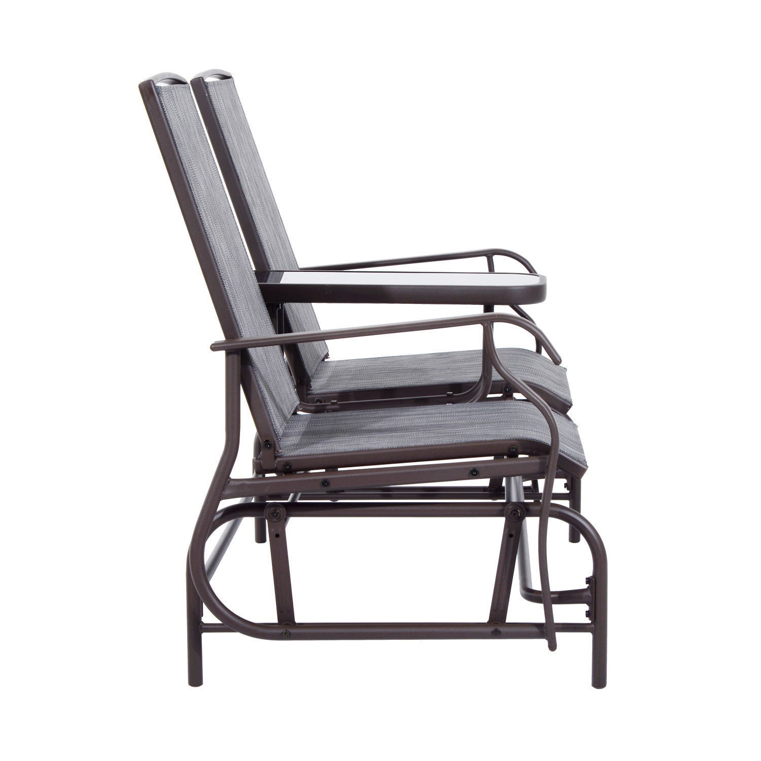 Heavens Tvcz Patio Glider Loveseat 2 Rocking Chair Bench Garden Porch Person Rocker Seat Armchair Deck Backyard New Metal Outdoor Furniture for a Double Fun Day in The Sun.