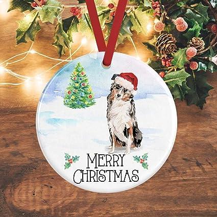 Australian Shepherd Christmas Ornament.Amazon Com Australian Shepherd Christmas Ornament Dog