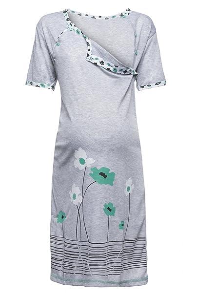 c7cc2c778 Happy Mama. Para Mujer Camisón flores premamá de embarazo y lactancia.  211p  Amazon.es  Ropa y accesorios