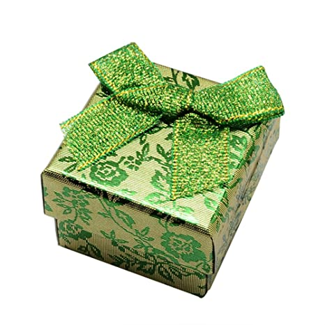 Nbeads 24pcs Cube Ring Boxes Cardboard Jewelry Gift Box With Bowknot
