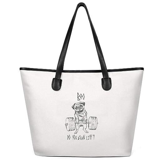 Bolsa de lona para mujer con asas de gran capacidad, bolsa de la ...