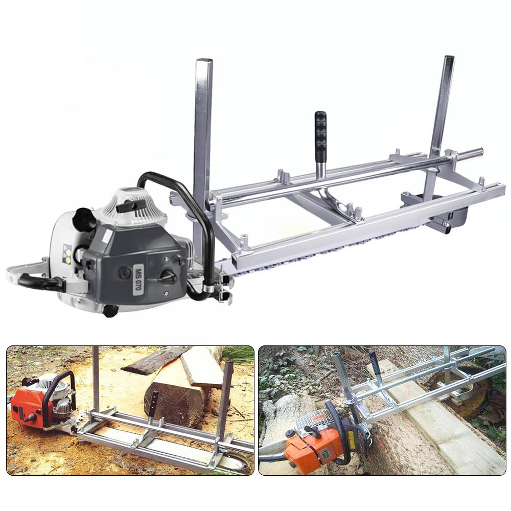 Portable Chainsaw Mill Attachment Planking Milling Bar Size 14'' to 36'' Wood Lumber Cutting Sawmill Aluminum Steel Chain Saw Mills Guide for Builders and Woodworkers by Seeutek (Image #6)