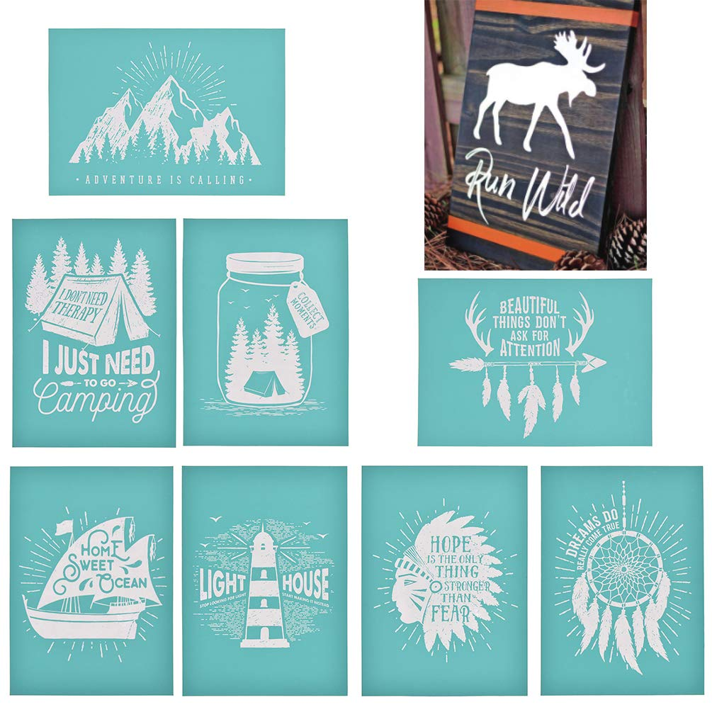 Dream Catcher YeulionCraft Self-Adhesive Silk Screen Printing Stencil Mesh Transfers for DIY T-Shirt Pillow Fabric Painting Decoration