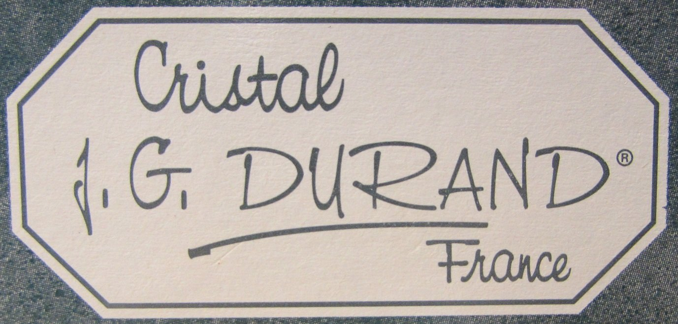Cristal J.G. Durand Villemont Creamer & Sugar Set