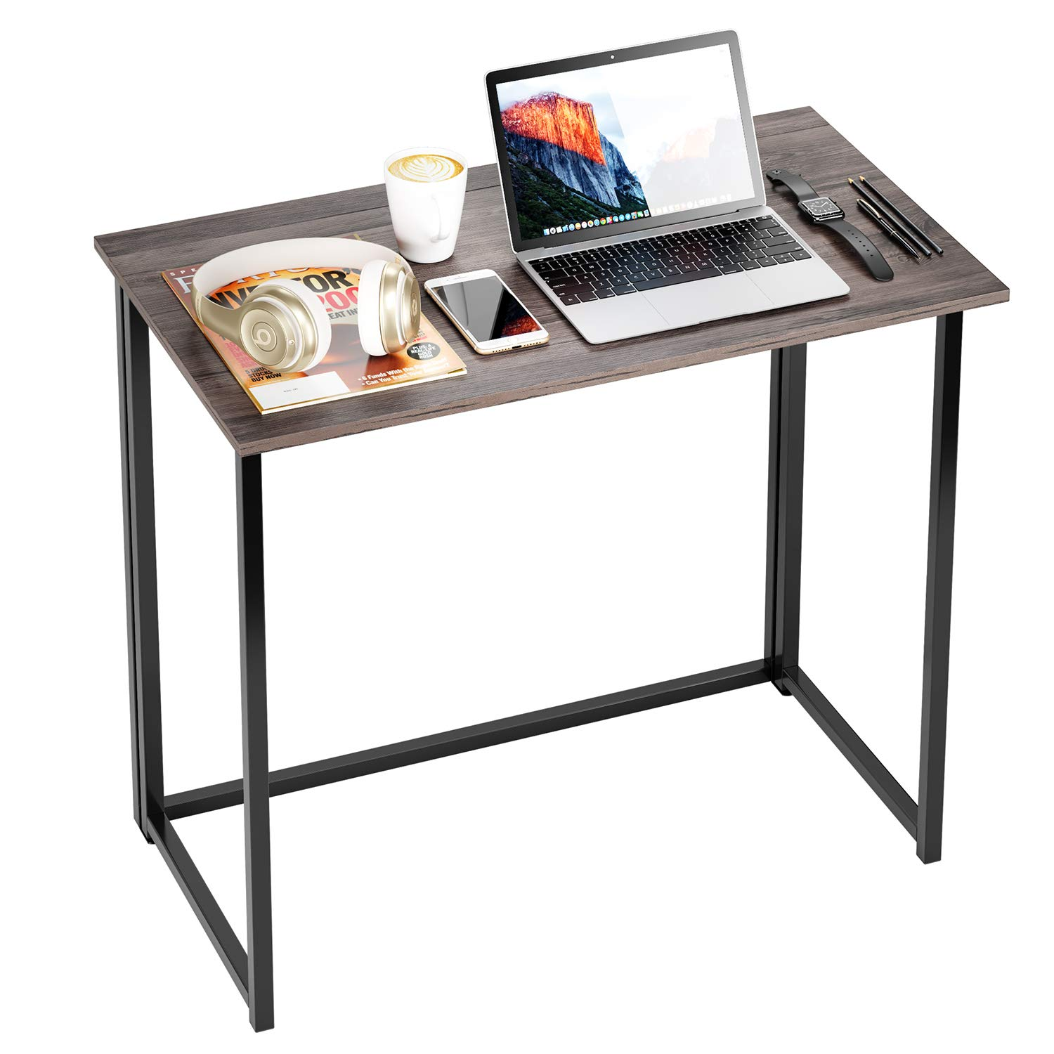 HOMFA Folding Laptop Table, Writing Computer Notebook Desk, Modern Simple Industrial Style TV Tray Bed/Sofa Side Study Table, Space Saving Furniture for Home Office by Homfa (Image #5)
