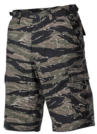3b2fc6a631 MFH Men's US BDU Bermuda Shorts Ripstop Tiger Stripe: Amazon.co.uk ...