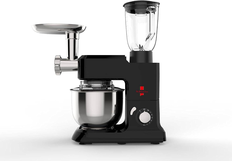 The Deluxe Line | 3 en 1 robot de cocina máquina de picar carne Licuadora – Amasadora | Masa para hacer pan 6,5 litros, 3,5 kg, Negro: Amazon.es: Hogar