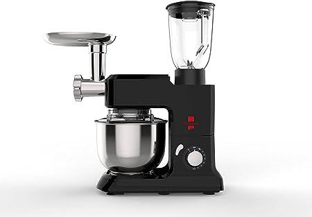 The Deluxe Line   3 en 1 robot de cocina máquina de picar carne Licuadora – Amasadora   Masa para hacer pan 6,5 litros, 3,5 kg, Negro: Amazon.es: Hogar