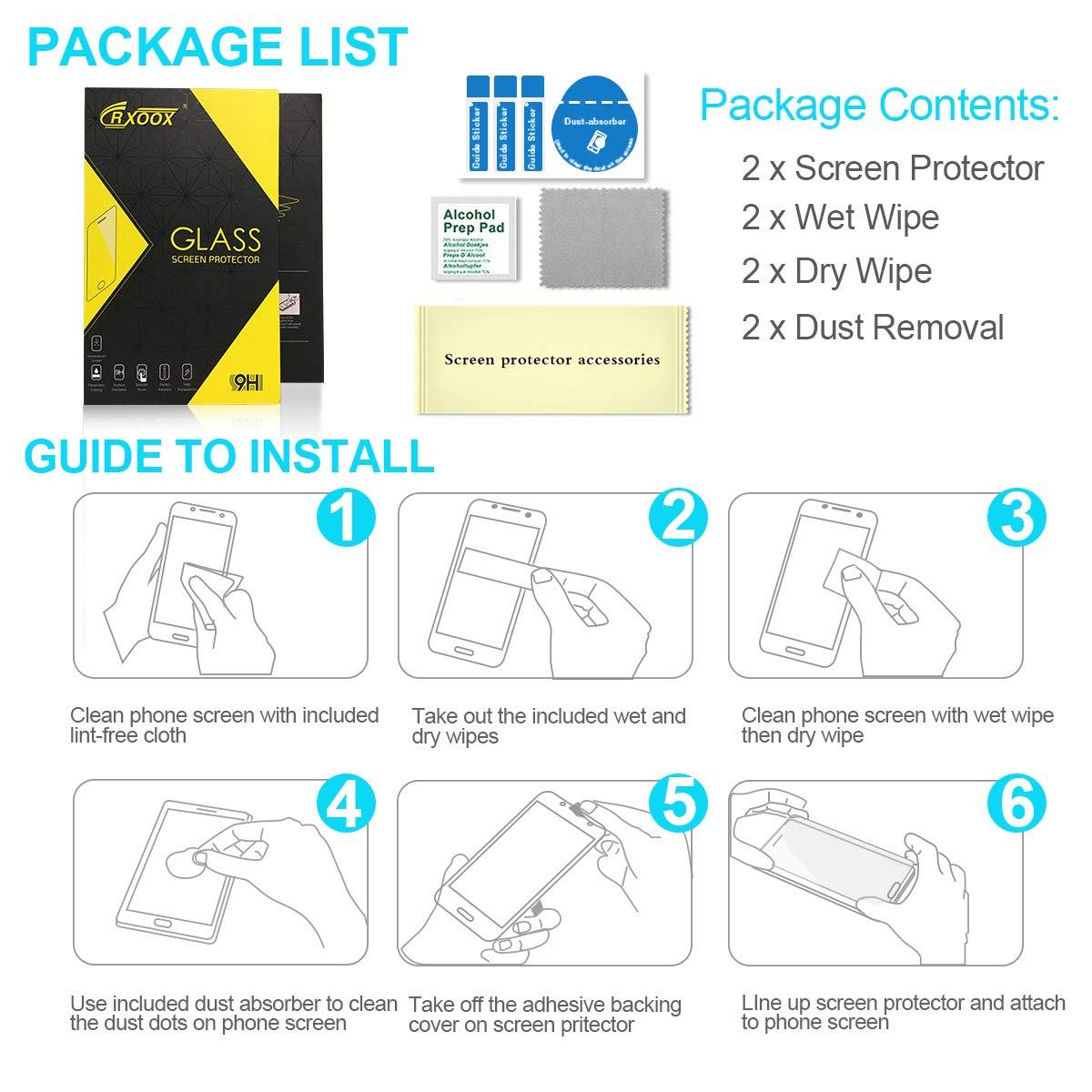 [2 Piezas] Protector de Pantalla para Huawei P30, Cristal Templado Vidrio Templado [Fácil de instalar] [Sin Burbujas] [3D-Touch/9H Dureza] ...