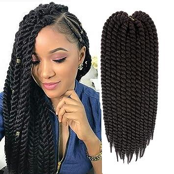 Havana Mambo Twist Braided Crochet Hair Jumbo Braid Twist Hair For Havana  Mambo Style 5 Packs 1B