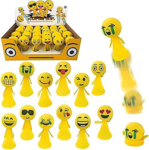 Emoji Pop Up Jouet Moji Jump Dessus Ventouse Ressort Fête Sac Drôle Visage Jouet