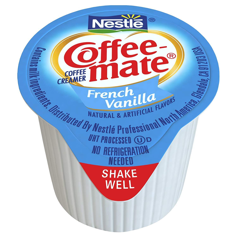 Nestle Coffee-mate Coffee Creamer, French Vanilla, liquid creamer singles, Pack of 645 by Nestle Coffee Mate (Image #2)