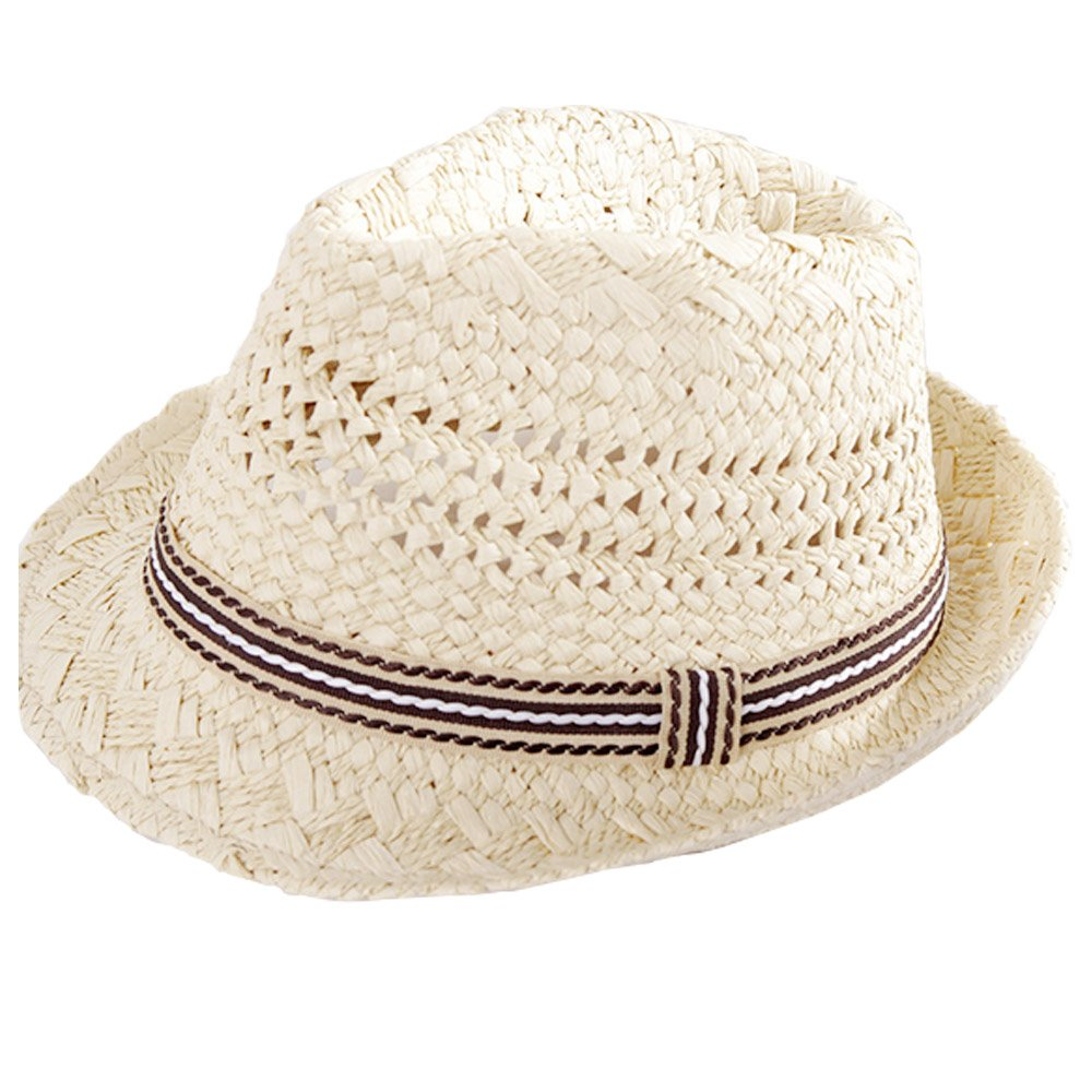 Amazon.com  Oyfel Sun Beach Hat Fedora for Kid Summer Outdoor Fishing Golf  Hunting  Kitchen   Dining 65db34a53c7