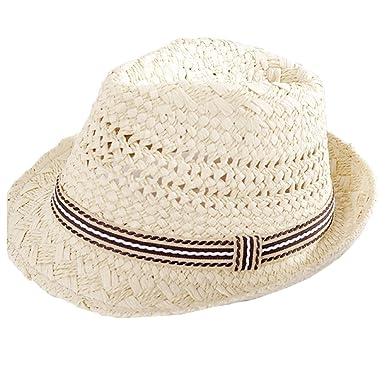 Cupcinu Children Kids Boys Girls Summer Sun Beach Straw Hat British Jazz Sun  Cap Hats Style 89c1f4436821